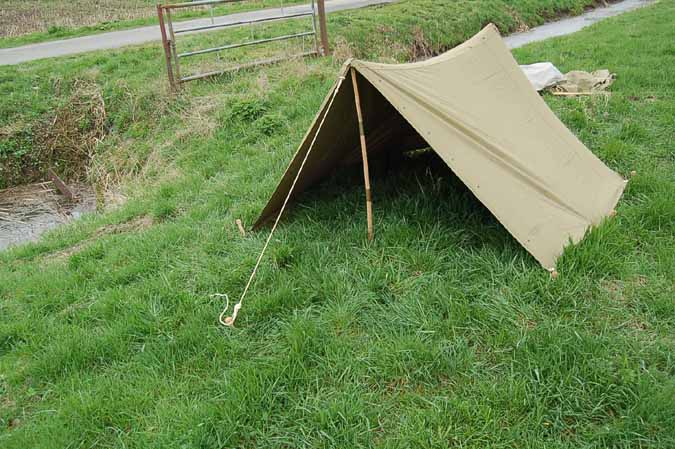 Half Shelter Tent : Wwii us army airborne shelter half tent dated early ebay